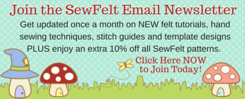 Sewfelt monthly email newsletter